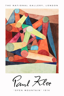 Art Classics, Open Mountain by Paul Klee (Germany, Europe)