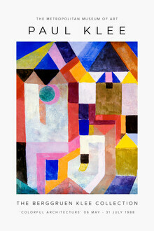 Art Classics, Colorful Architecture by Paul Klee (Germany, Europe)