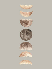 Christina Wolff, Phases of the Moon Art Print (Germany, Europe)