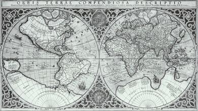 Vintage Nature Graphics, Orbis Terrae Compendiosa Descriptio (Deutschland, Europa)