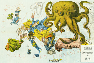 Vintage Nature Graphics, La Piovra Russa: Carta Serio-Comica 1878 (Frankreich, Europa)