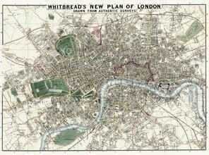 Vintage Nature Graphics, Whitbread's new plan of London (Großbritannien, Europa)