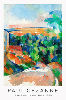 Art Classics, The Bend in the Road by Paul Cézanne (France, Europe)