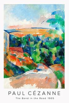 Art Classics, The Bend in the Road von Paul Cézanne (Frankreich, Europa)