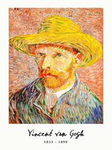 Art Classics, Self-Portrait with a Straw Hat von Vincent Van Gogh (Niederlande, Europa)