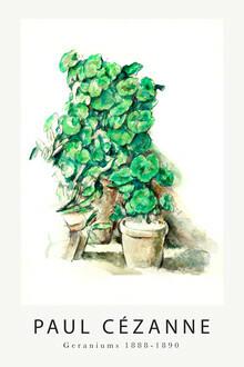 Art Classics, Geraniums by Paul Cézanne (France, Europe)