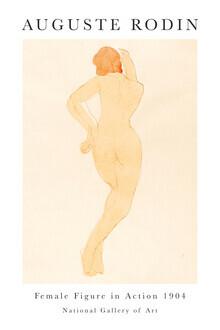 Art Classics, Female Figure in Action von Auguste Rodin (Frankreich, Europa)