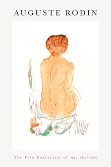 Art Classics, Seated Nude, Seen from the Back by Auguste Rodin (France, Europe)