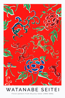 Art Classics, Flower Pattern by Watanabe Seitei 1893 (Japan, Asia)