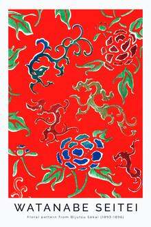 Art Classics, Flower Pattern by Watanabe Seitei 1893 (Japan, Asien)