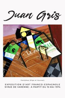 Art Classics, Pipe et Journal von Juan Gris (Spanien, Europa)