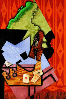 Art Classics, Violin and Playing Cards on the Table by Juan Gris (Spain, Europe)