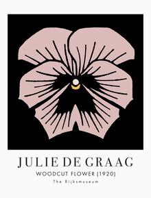 Art Classics, Woodcut Flower by Julie de Graag (Netherlands, Europe)