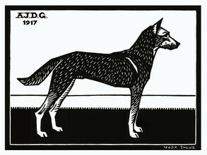 Vintage Collection, Woodblock Dog (Germany, Europe)