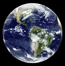 Nasa Visions, Satellitenbild von GOES 12 (Germany, Europe)