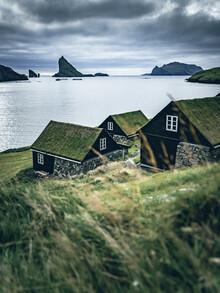 Franz Sussbauer, village at the sea at Faroe Islands (Faroe Islands, Europe)