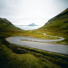 Franz Sussbauer, Scenic road on Faroer Islands I (Faroe Islands, Europe)