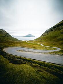 Franz Sussbauer, Scenic road on Faroer Islands II (Faroe Islands, Europe)