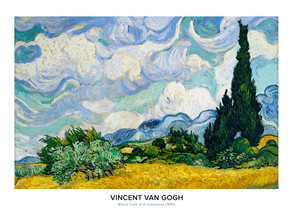 Art Classics, Exhibition poster Wheat Field with Cypresses by Vincent van Gogh (Germany, Europe)
