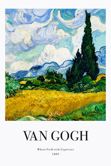 Art Classics, Vincent van Gogh: Wheat Field with Cypresses (exhibition poster ) (Germany, Europe)