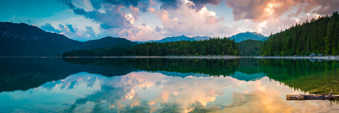 Martin Wasilewski, First Light at Lake Eibsee (Germany, Europe)