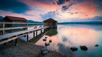 Martin Wasilewski, Summer Evening at Lake Kochelsee (Germany, Europe)