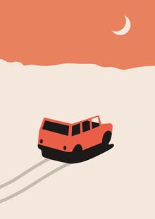 Florent Bodart, Auto in der Wüste (Deutschland, Europa)