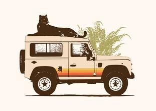 Florent Bodart, Schwarzer Panter auf einem Jeep (Deutschland, Europa)