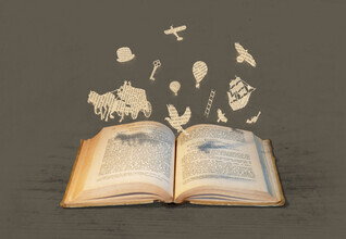 Florent Bodart, Geflügeltes Wort - Illustration aus der Bücherwelt (Deutschland, Europa)