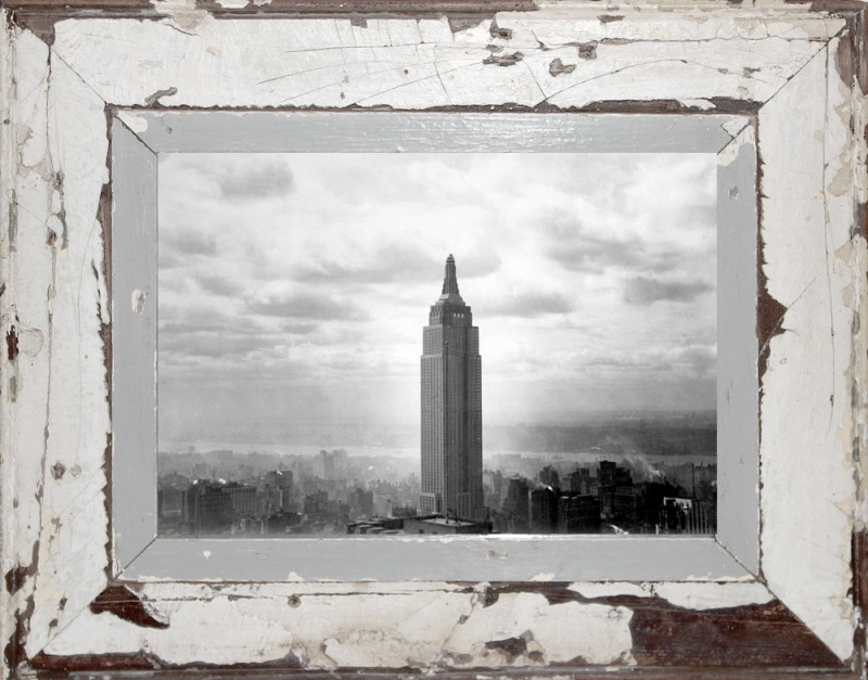 39 empire state building 39 a4 43 x 34 cm bilderrahmen photocircle. Black Bedroom Furniture Sets. Home Design Ideas