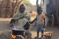 Relief supplies for Sudanese refugees