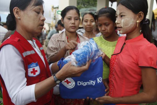 Help for flood victims in Myanmar